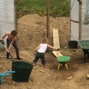 Digging out a polytunnel in Wales