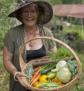 Robyn Francis - permaculture pionneer, and one of both Laura and Fionn's future teachers. just one of the amazing people we were lucky enough to meet at IPC